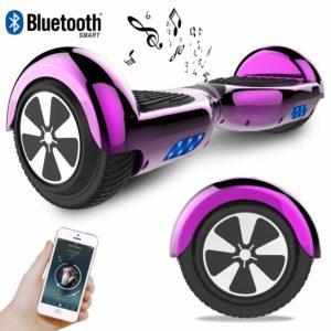 RCB Hoverboard Elektroroller 6,5 Zoll Smart Self-Balance Roller mit bunten Lichtern und Bluetooth