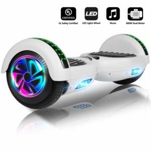 """Jolege Hoverboard 6.5"""" Smart Self Balance Elektro Scooter mit Buntem LED Lights für Kinder - UL 2272"""