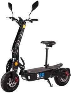 eFlux S20 Elektroroller Scooter - 600 Watt Hubmotor - Straßenzulassung - 20 Km/h Geschwindigkeit - Lithium Ionen Akku - E-Scooter