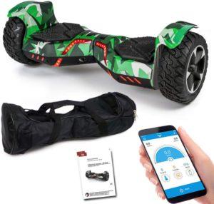 Viron SUV Hoverboard 8,5 Zoll 800 Watt - GPX-04 - Ares mit APP Funktion, Bluetooth, Kinder Sicherheitsmodus, Dual Motor