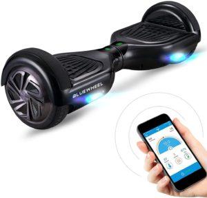 Premium Hoverboard Bluewheel HX310s - Deutsche Qualitäts Marke - Kinder Sicherheitsmodus & App - Bluetooth Lautsprecher - Starker Dual