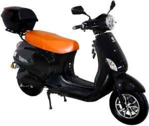 Rolektro 45km/h Elektroroller E-City Retro - 1500W E-Scooter 60km Reichweite E-Roller mit Straßenzulassung - Lithium-Akku herausnehmbar