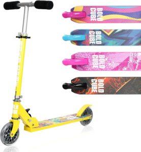 BOLDCUBE Faltbare Scooter Kinder mit PU Räder - ZweiRad Roller für Kinder Jungen Mädchen ab 5 - 10 Jahre - bis 100KG Gewicht